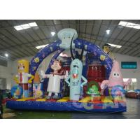 China Spongbob Bouncy Inflatable Slides wholesale