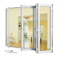 China Double Aluminium Sliding Folding Glass Door With Anodized Silver Frame wholesale