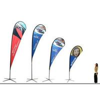 Quality Polyester Promotional Feather Flags Advertising exhibition event outdoor Flying for sale