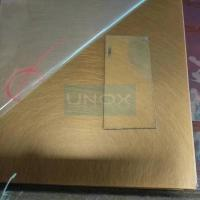 China 304 Bronze Hairline Stainless Steel Plate-CopperHairline Bronze Stainless Steel Sheets wholesale