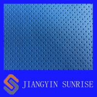 China Custom Vehicle Woven Leather Fabric / Blue Leather Upholstery Fabric For Cars on sale