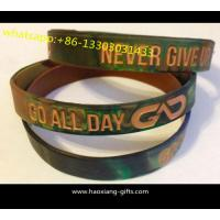 Quality High quality gifts silicone wristband/bracelet debossed your logo in black color for sale