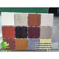 Quality Aluminum wall panel with stone color for building facade cladding 3mm for sale