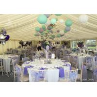Colorful Ball Decoration Luxury Wedding Tents , Huge Canopy Tent Anodized for sale