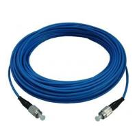 China ST / UPC - ST Indoor Armoured Fiber Optic Patch Cord with Blue , LSZH jacket wholesale