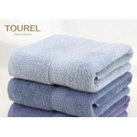 China Plain Grey Color Hotel Bath Towels / Absorbent Bath Towels Anti - Static wholesale