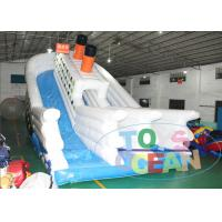 China Huge Inflatable Titanic Slide Game For Kids , Outdoor Party Rental Slides wholesale