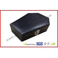 China Wood Grain Jewellery Showing Gift Packaging Boxes , Black Rigid Paper Rings Packaging Boxes wholesale