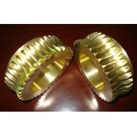China Durable Gold Brass Worm wheel / gear hobbing services and CNC Turning wholesale