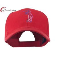 China Red Female Golfer Outline Embroidered Cap / Golf Baseball Hats wholesale