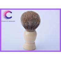 Quality Grey Safety Razor Pure Badger Shaving Brush with faux ivory handle for sale
