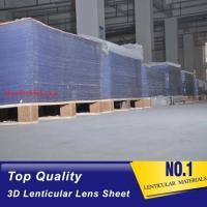 China Injekt print / UV print material 75LPI 0.45mm Lenticular Lens Sheet material with good Lenticular Printing Effect wholesale