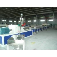 China Hollow and Solid Plastic Profile Extrusion Line , PP / PE Handrail Profile Production Line wholesale