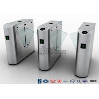 China Auto Retractable Entrance Waist High Turnstile With Face Recognition / Card Reader wholesale