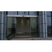 China Double Exterior Frameless Automatic Glass Door Slider Energy Saving wholesale