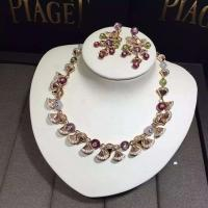 Quality Bvlgari brand jewelry diamonds necklace 18kt gold for sale