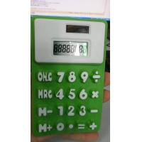 China Pocket Flexible Silicone 8 Digit Solar Power Calculator Customized Logo / Color wholesale