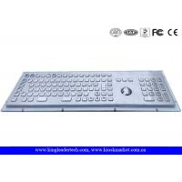 Buy cheap Rugged Metal Industrial Keyboard With Trackball 103 Function Keys And Number from wholesalers