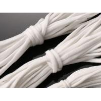 China Stock  White Elastic String Face Flat Soft Poly For Mask  /Apron / Gloves wholesale