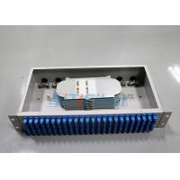 China Compact 48 port SC cable optical distribution box 2U Rack Mounted Structure wholesale