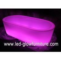 China Multi color change Rectangular funky LED Ice Bucket for wine or fruit holder wholesale