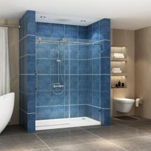 China Stainless steel frameless sliding shower glass door shower enclosure wholesale