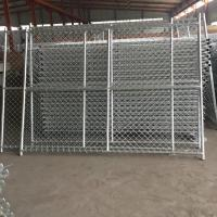 China Barbed/barbed selvedge Galvanized Chain Link Panels Fence,0.9mx20mx50*50mmx2.8mm wholesale