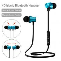 China Magnetic Suction Mobile Phone Bluetooth Earphones With Mic Auto Pairing on sale