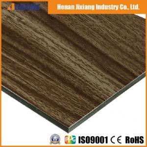 China Nano PVDF Coated 3mm Fireproof Wooden Aluminum Composite Panel wholesale