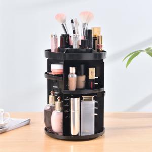 China 360 rotating makeup organizer DIY adjustable holder rack cosmetic display shelf wholesale