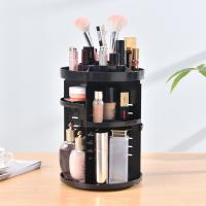 China Wholesale home storage displaying rack 360 rotating portable DIY plastic cosmetic storage box wholesale