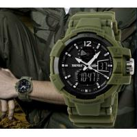 China Skmei S Shock 50m Waterproof Military Mens Army Wrist Watch Swim Dive Climb Hunt Green 1040 wholesale