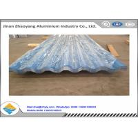 China Color Coated Corrugated Aluminum Sheet / Zinc Aluminum Roofing Sheet 0.8mm Thickness wholesale