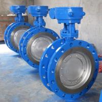 Quality Zero Leakage Triple Eccentric Butterfly Valve , Metal Seal Flange Type Butterfly for sale