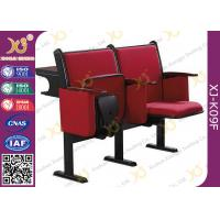 China Steel Leg Center Distance 520 mm High School Classroom Furniture Lecture Hall Chair wholesale
