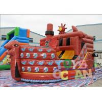 China Digital Printing Inflatable Slides Pirate Boat Ship Design 12x4x5 M wholesale