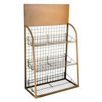 China Custom Wire Metal Display Rack  and Cases for Supermarket merchandise show wholesale