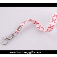 Quality Cheap Custom pink Lanyard print your logo No Minimum Order With Any Hook for sale