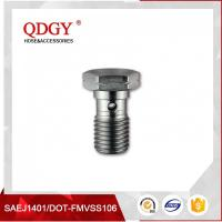 China STAINLESS STEEL MATERIAL BRAKE HOSE FITTINGS SINGLE BANJO BOLT M10 X 1.25 wholesale