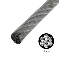 China 7x19 Strong Vinyl Coated High Tensile Wire Rope Galvanized For Security Cables wholesale