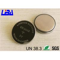 China 230mAh Lithium Manganese Dioxide Battery , Lithium Ion Battery Cr2032  With Solder wholesale