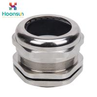 China IP68 Metric Bickel Plated Brass Metal Cable Gland / Straight Electrical Cable Gland wholesale