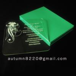 China beautiful acrylic invitation wholesale