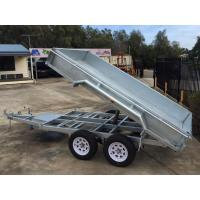 China 2000kg 10 X 5 Tandem Trailer / Galvanised Tipper Trailer With Checker Plate Rolled Body wholesale