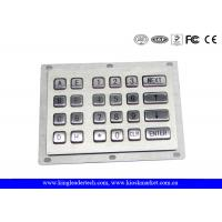 China  24 Metal Keys Industrial Numeric Keypad Vandal Proof For Kiosk And Gas Stations  for sale