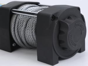 China Electric steel cable ATV winch with wireless remote control mounting bracket boat ATV kit wholesale