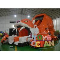 China Animal World Jungle Tiger Inflatable Slide For Adults 18OZ Inflatable Kids Slide wholesale