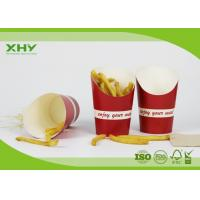 China Red Color Printed 9oz French Fries Chip Paper Cups with FDA Certificated wholesale