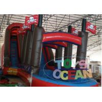 Quality Parties Inflatable Pirate Ship Slide With Mini Swimming Pool For Kids Play for sale