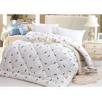 China Warm Alternative Down Comforter , Machine Quilting Feather Down Comforter wholesale